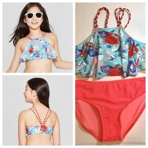 NWOT Girls' By the Sea Shore Bikini Set Cat & Jack